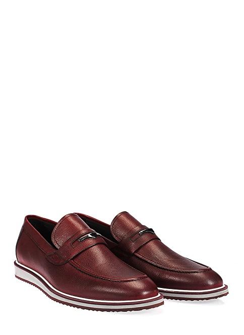 İnci Loafer Ayakkabı Bordo